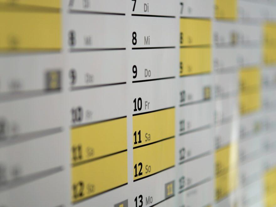 Die allabendliche Postausgangskontrolle - und der Fristenkalender
